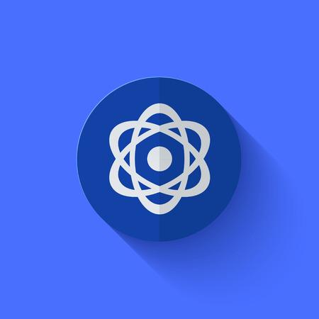 Vector modern flat blue circle icon. Eps10 Stock Vector - 27515693