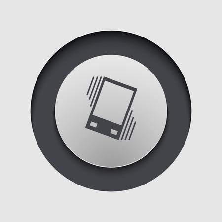 sleepiness: Vector modern circle icon. Eps 10 illustration Illustration