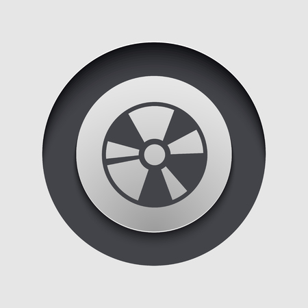blueray: Vector modern circle icon. Eps 10 illustration Illustration