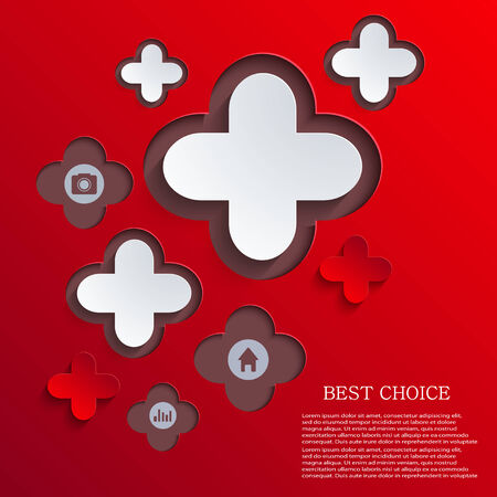 abstract cross: vector abstract cross background. infographics element design