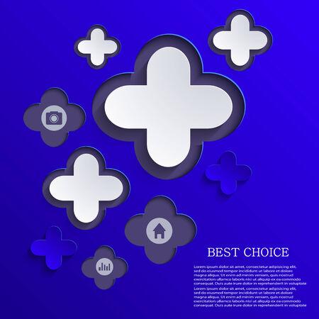 abstract cross: vettore astratto croce sfondo. disegno infografica elemento