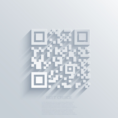 Vector modern qr code background.