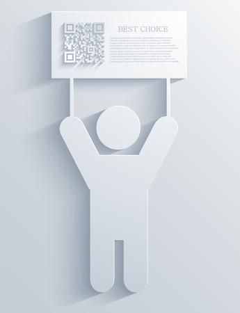Vector modern qr code background. Eps10 illustration Vector