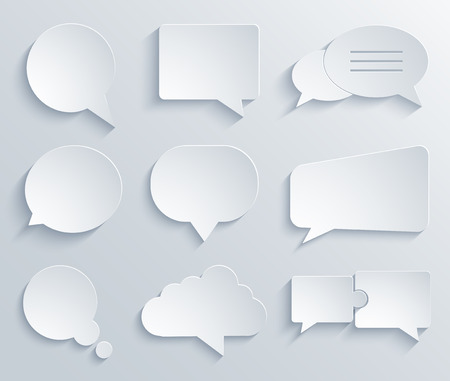 Vector modern bubble speech icons set. Eps 10 Illustration