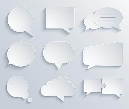 Vector modern bubble speech icons set. Eps 10 Stock Illustratie