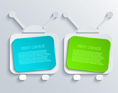 creative background: vector modern tv banners design background. Eps 10