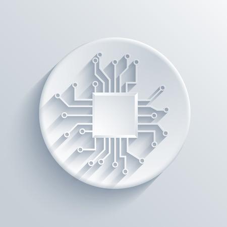 Vector modern circuit board icon. Eps 10
