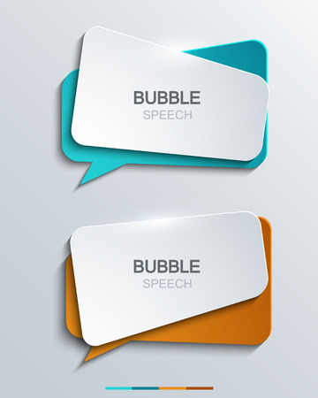 Vector modern bubble speech icons set. Business development,education.