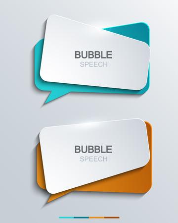 Vector moderne bubble toespraak pictogrammen instellen. Business development, onderwijs.