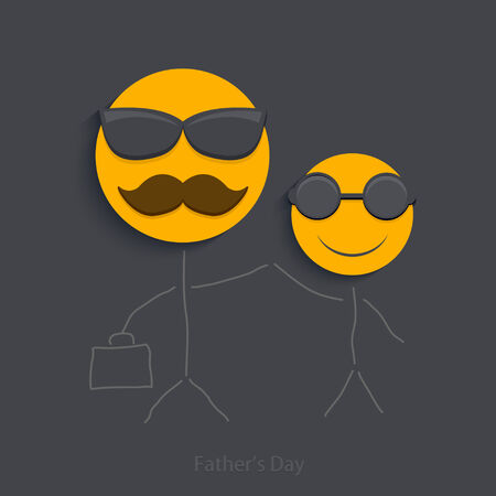 fathers day background: Vector fathers day background.