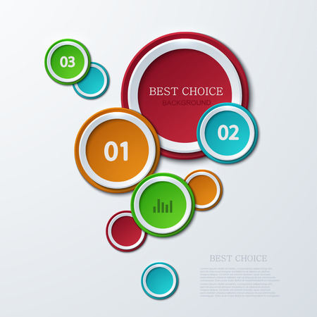 Vector modern circle infographics background. Business development.  Vector
