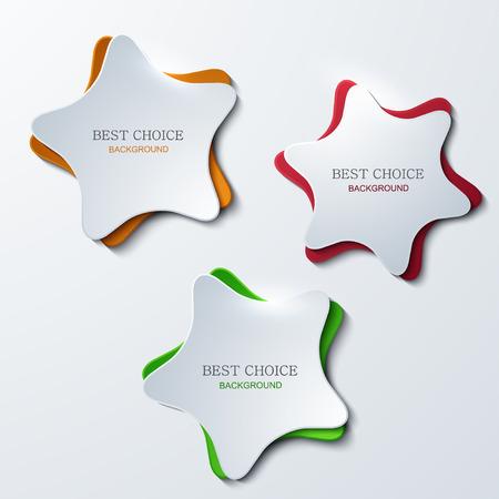 vector modern star banners background. 3 variants.  Illustration