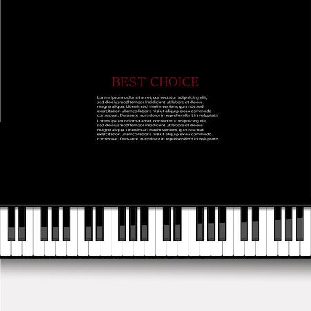 piano keys: Vector modern piano background. Eps 10 illustration