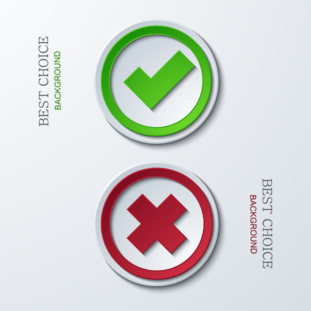 vector yes or no circle icons. Eps 10 Vector