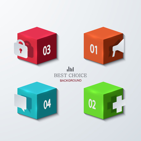 Vector modern cube infographics element design. Business development. concept background. Vector