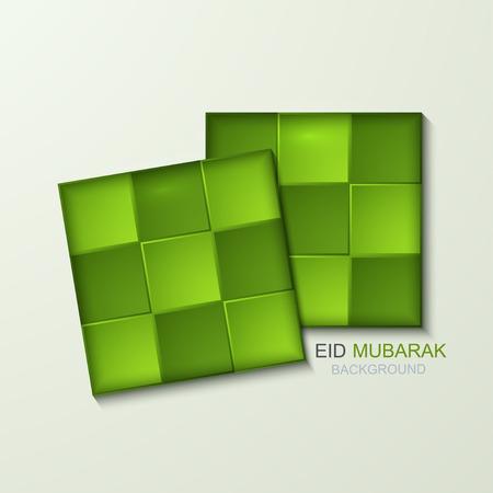 Vector ketupat element ontwerp. Moslim Ketupat achtergrond. Stock Illustratie