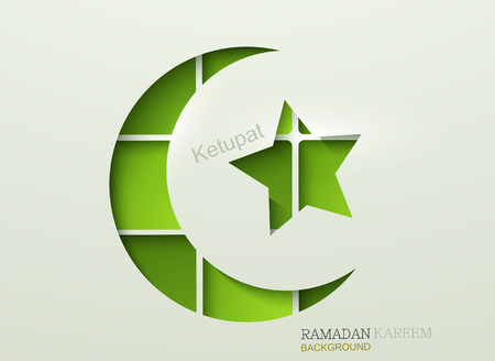 Vector ketupat element design. ramadan kareem background.  Vector
