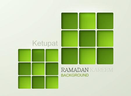 Vector ketupat element design. ramadan kareem background.  Illustration