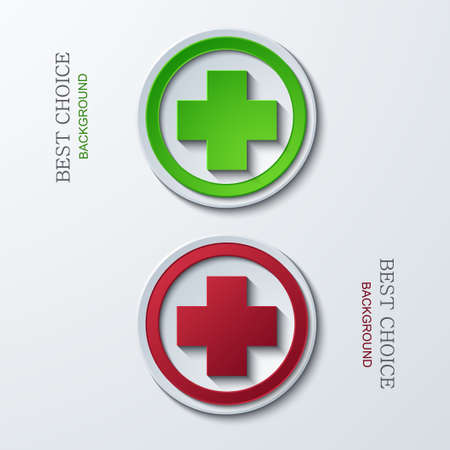 Vector modern circle icons on sample background. 2 variants. Eps10 Vector