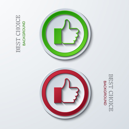 decline in values: Vector modern circle icons on sample background. 2 variants. Eps10
