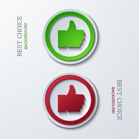 Vector modern circle icons on sample background. 2 variants. Eps10 Stock Vector - 29228980