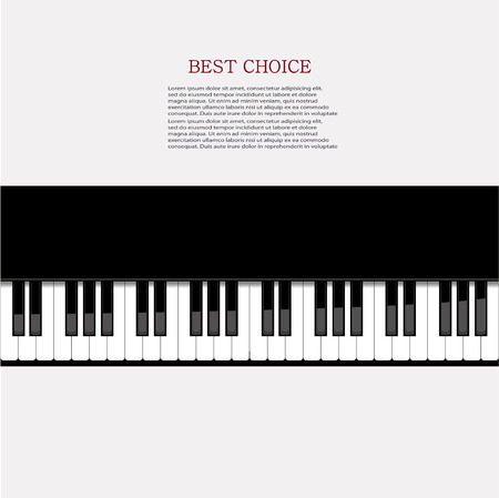 Vector modern piano background.  Vector