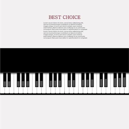 Vector modern piano background.  Vector