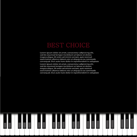 piano background: Vector modern piano background.  Illustration