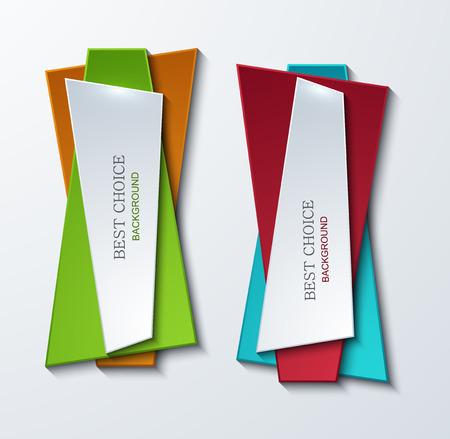 moder: Vector moder banners element design