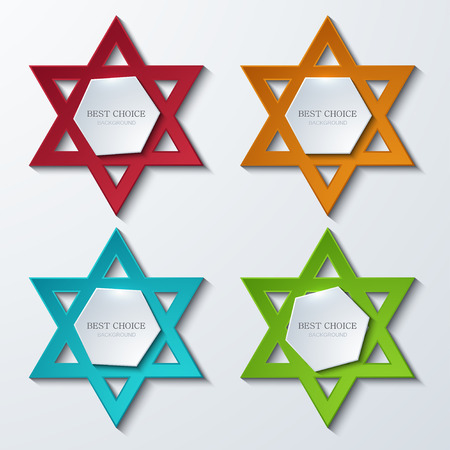 shalom: Vector star of David banners background.