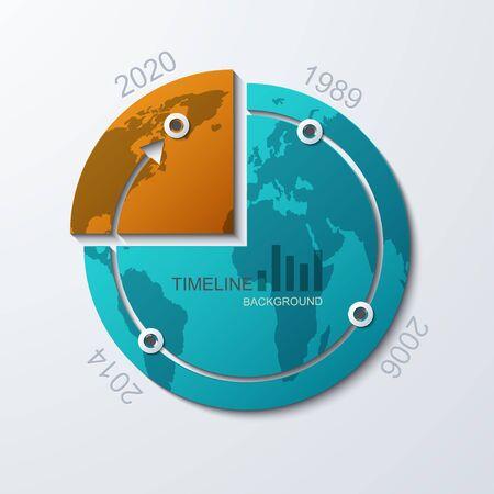 vector timeline infographic element design Vector
