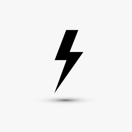 rayo electrico: Vector icono web negro sobre fondo blanco Eps10