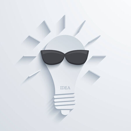 modern idea bulb with sunglasses background  Vector