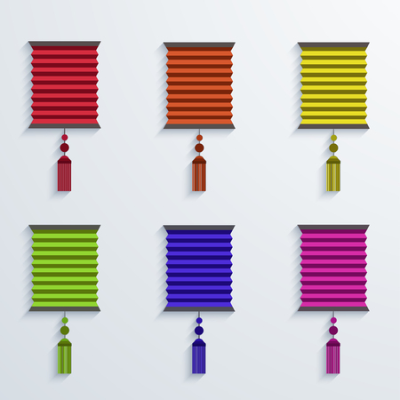 papierlaterne: moderne chinesische Papierlaterne-Set