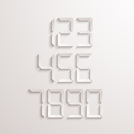 web element: Vector modern electronic numbers set. Web element design. Eps10