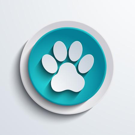 tigre cachorro: vector moderno icono azul círculo elemento Web