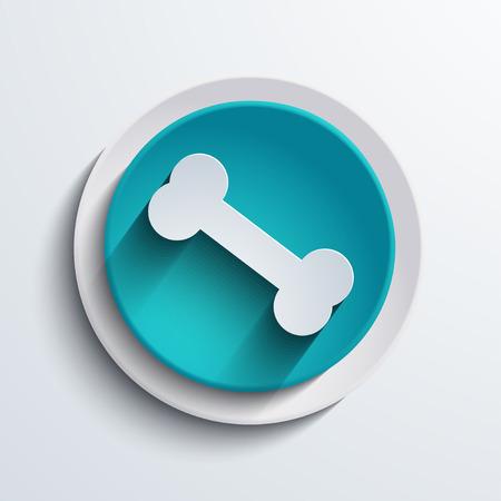 vector modern blue circle icon  Web element Vector