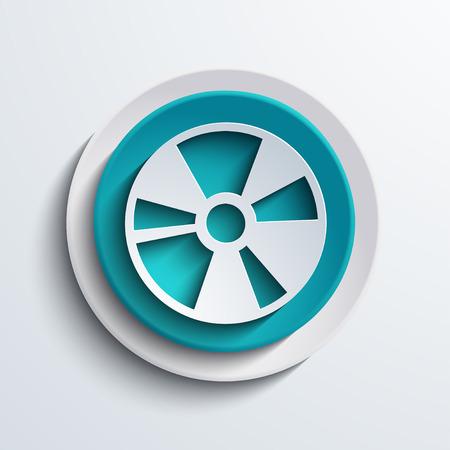 blueray: vector modern blue circle icon  Web element