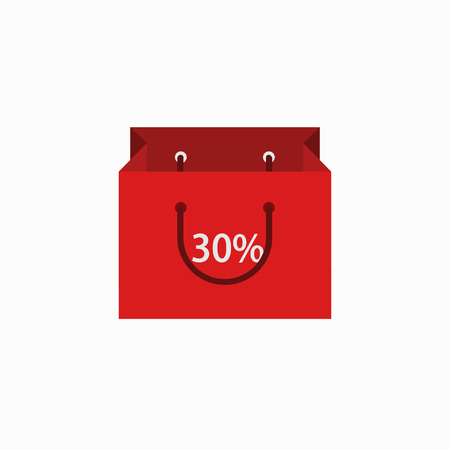 vector modern shopping icon on white background  Vector