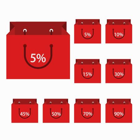 vector modern shopping icons set Vector
