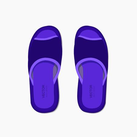 flippers:  modern flippers on gray bakground.
