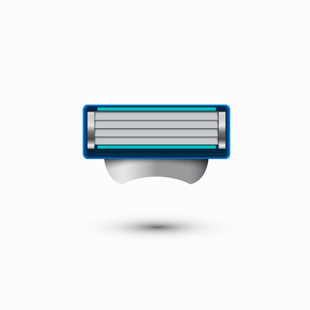 male grooming: modern razor icon on white background
