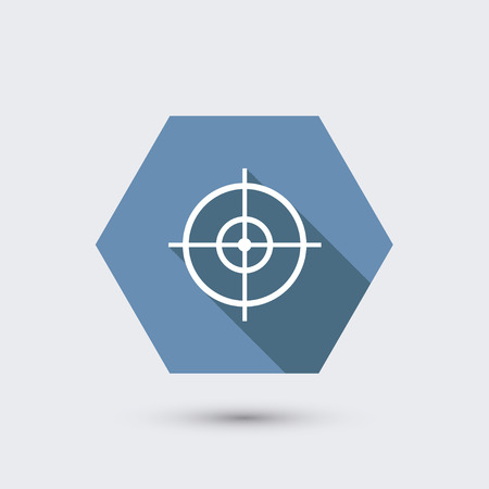 radar gun: vector modern flat icon with long shadow. Illustration