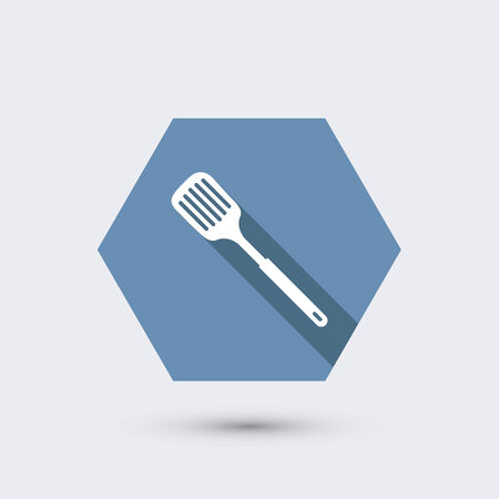 lasagna: vector modern flat icon with long shadow. Illustration