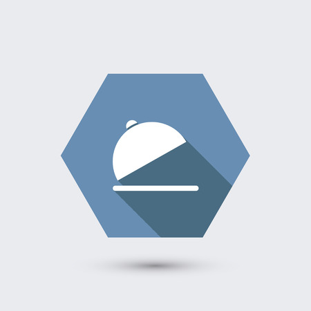 vector modern flat icon with long shadow. Vector