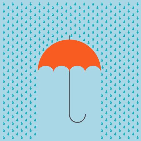 rain background: modern umbrella with rain background.