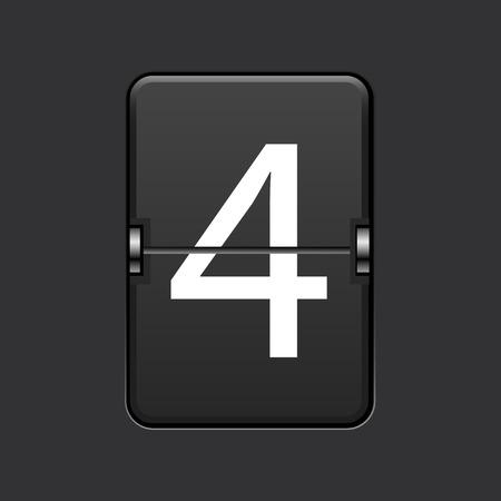 numeric: Vector modern numeric scoreboard.