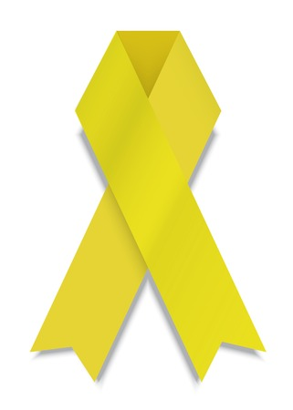 vector modern yellow ribbon on white background. Vector