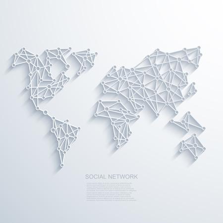 réseautage: Vecteur moderne fond de réseau social.