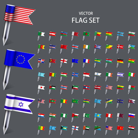Vector modern set  flags of the world  Vector